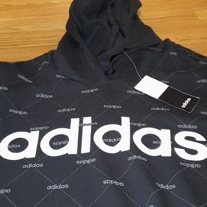 """New """"All Over Adidas""""Logo Hoody size XL"""
